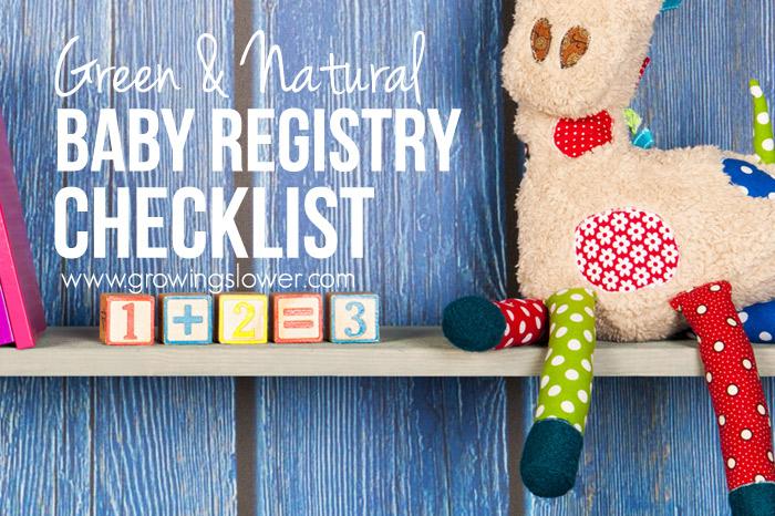 Green Baby Registry – Natural Baby Registry Checklist Printable