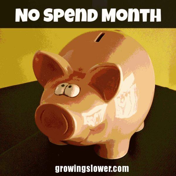 No Spend Month Blog Badge