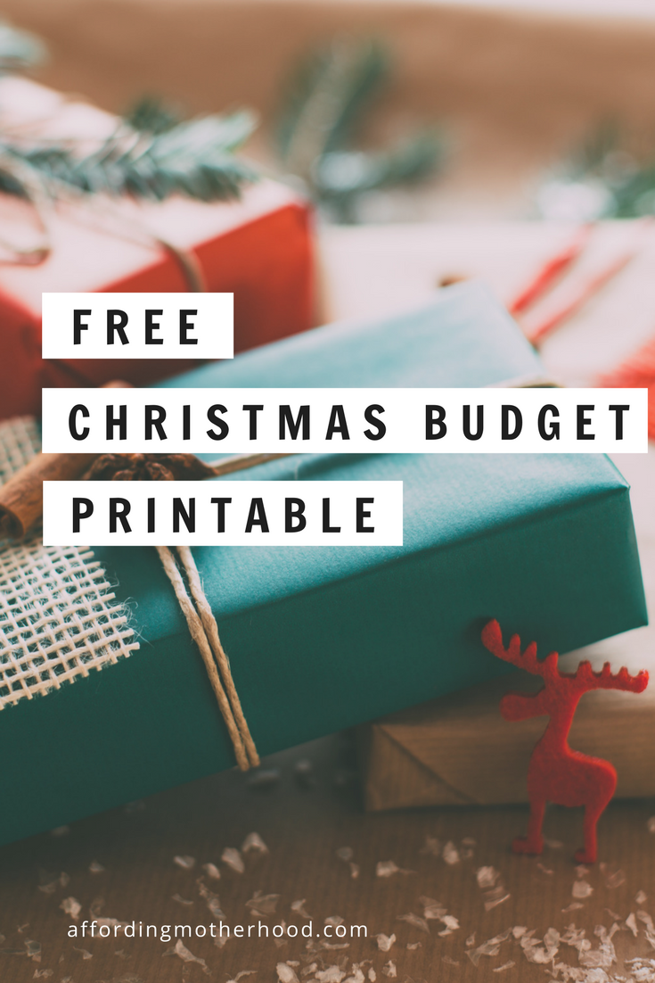Free Printable Christmas Budget Worksheet - Don't spend the holiday season feeling stressed about spending. Make a christmas budget with these 4 simple steps, so you can enjoy a debt free Christmas this year! (Includes printable Christmas budget worksheet spreadsheet)