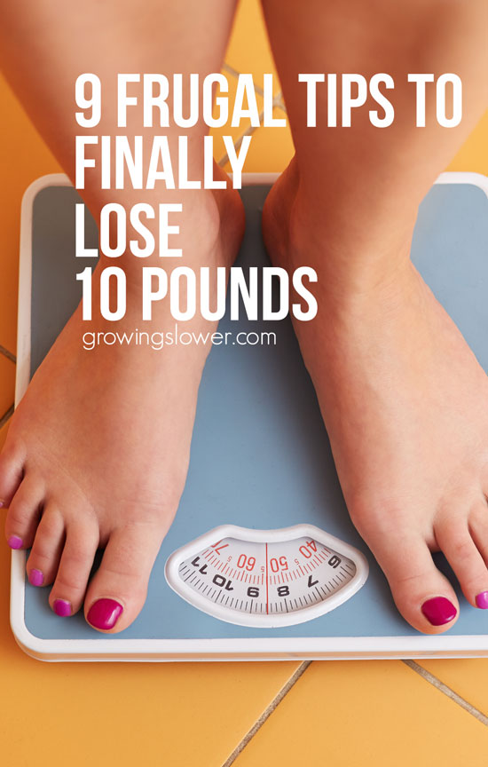 These are the 9 frugal tips I used on my budget weight loss journey. A sensible, realistic, budget friendly plan. In the first six weeks, I lost ten pounds!
