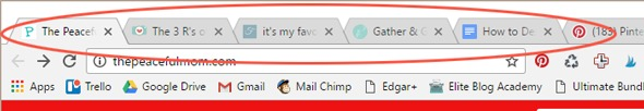 Your blog favicon is the tiny square symbol on your browser tab. It's very small, so you'll want to consider this as you design.