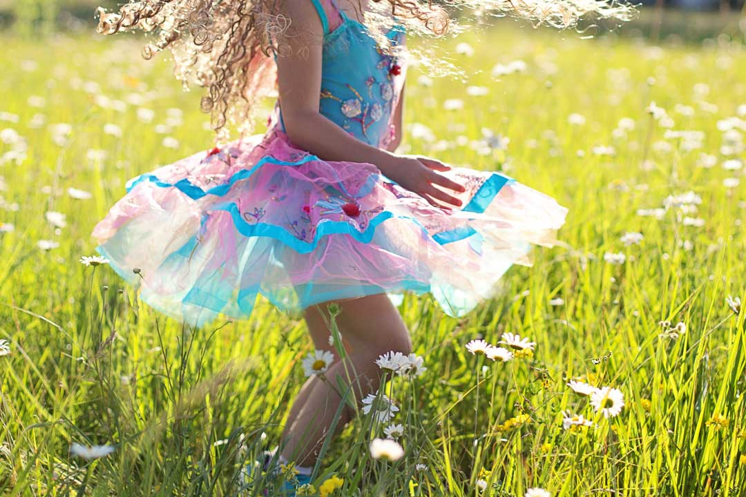 When you stop overspending and pay off debt, you'll be dancing like a child in a field full of daisies.