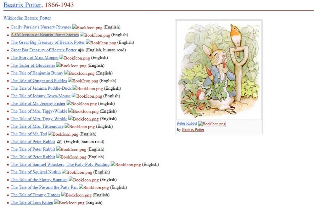 Project Gutenberg has thousands of free ebooks your family will love. Many of them are classics like these from Beatrix Potter.